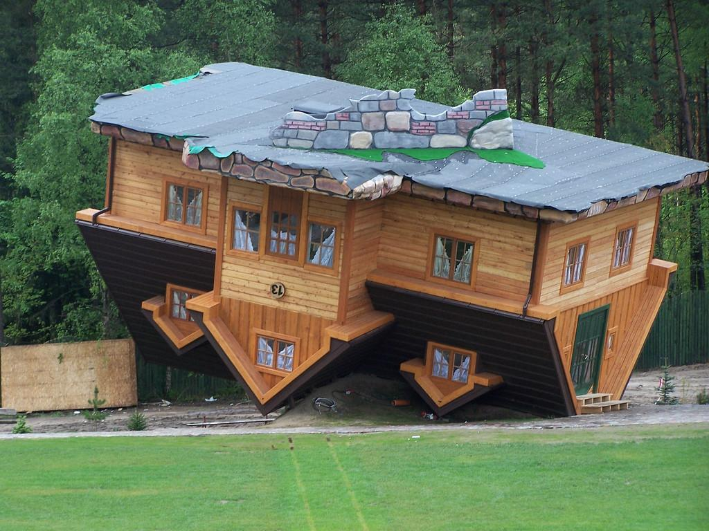 House Upside Down Poland Szymbark Near Gda Danmar