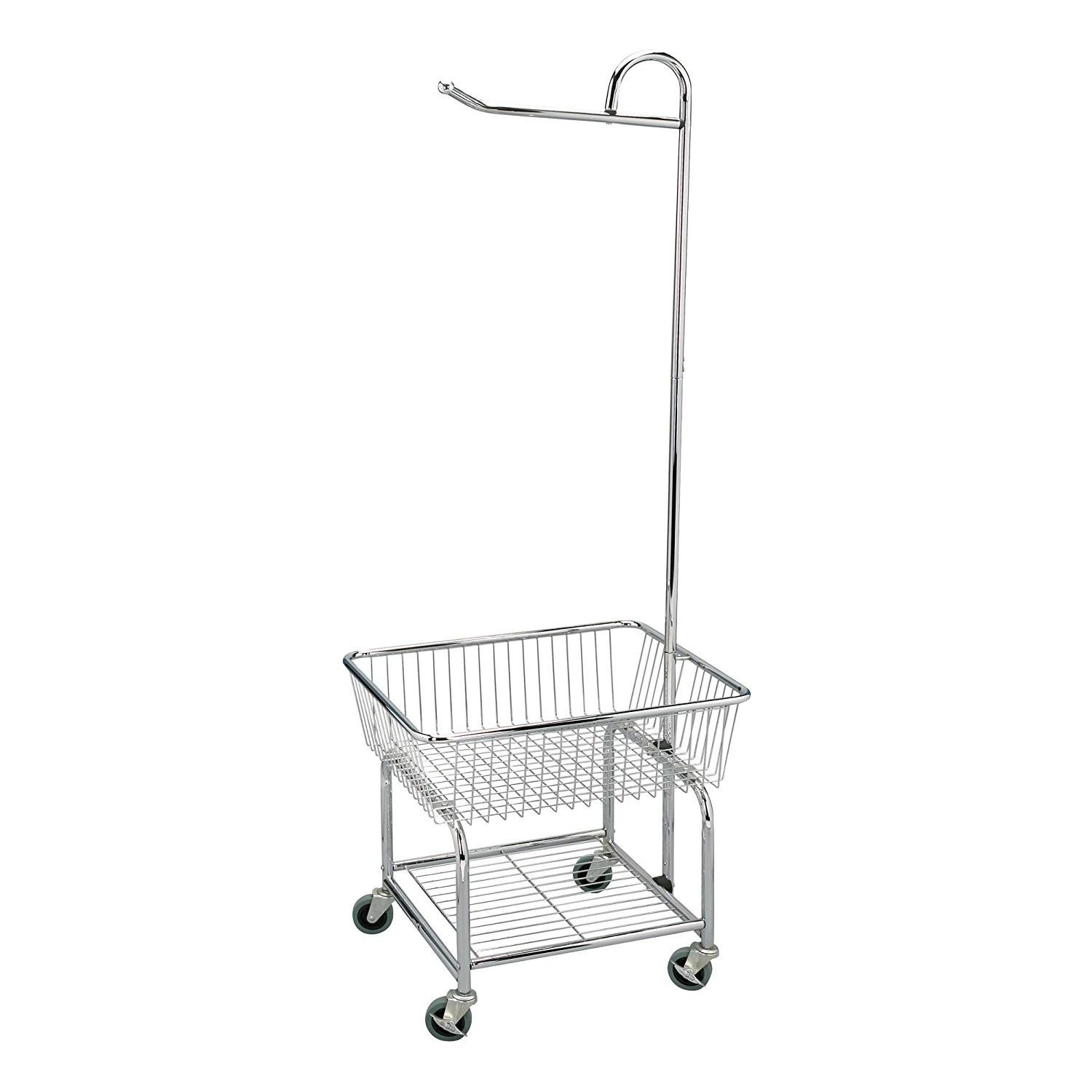 Household Rolling Laundry Butler Cart Rack Hanging Clothes