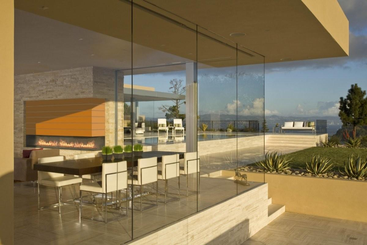 Houses Glass Walls Wall Partitions Home