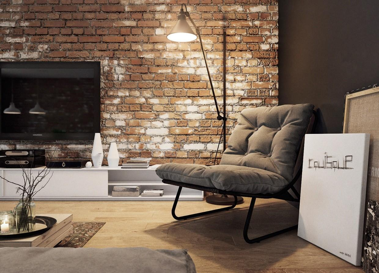 Houses Put Modern Twist Exposed Brick
