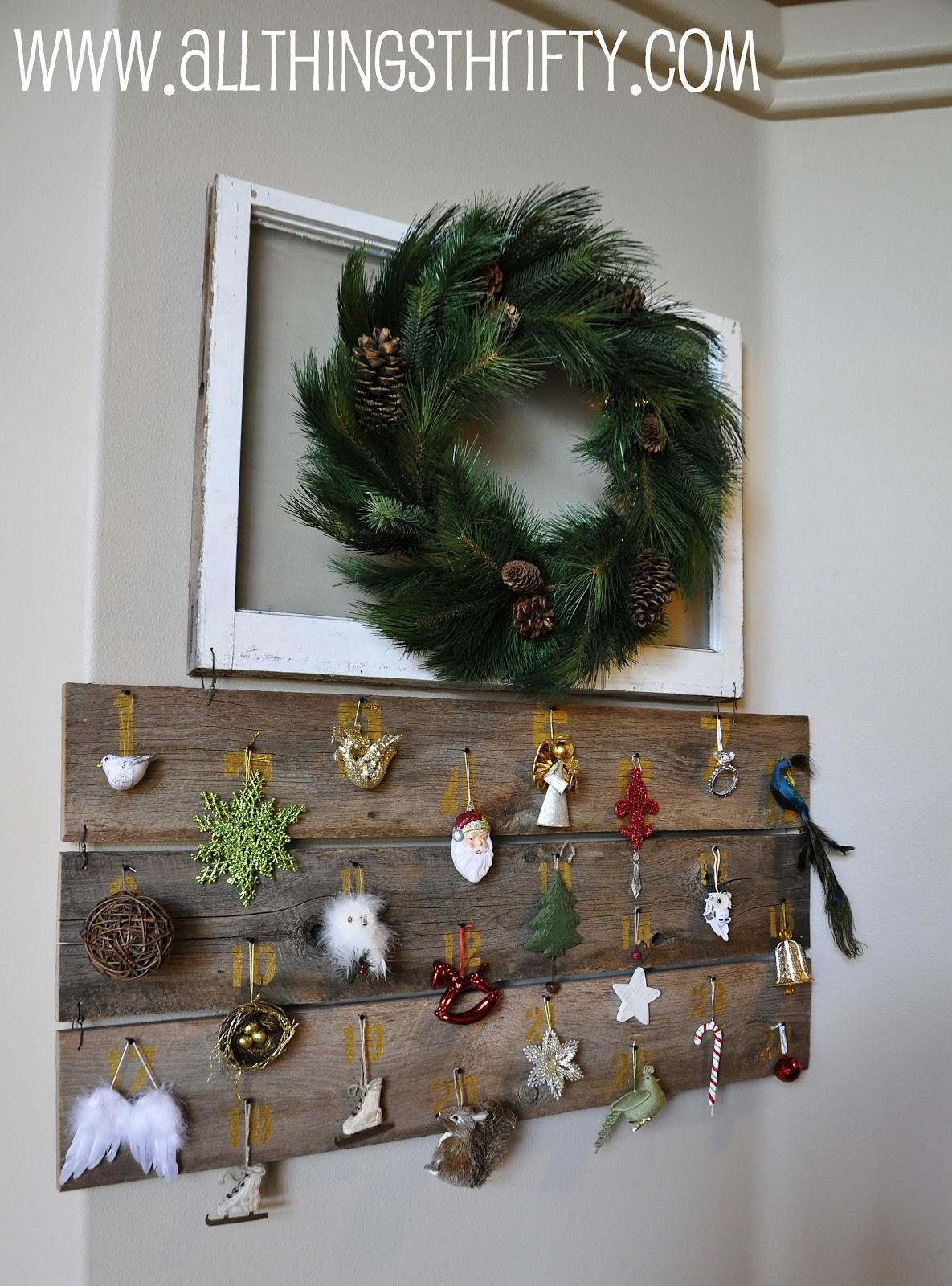 Huge Barn Wood Christmas Advent Calendar