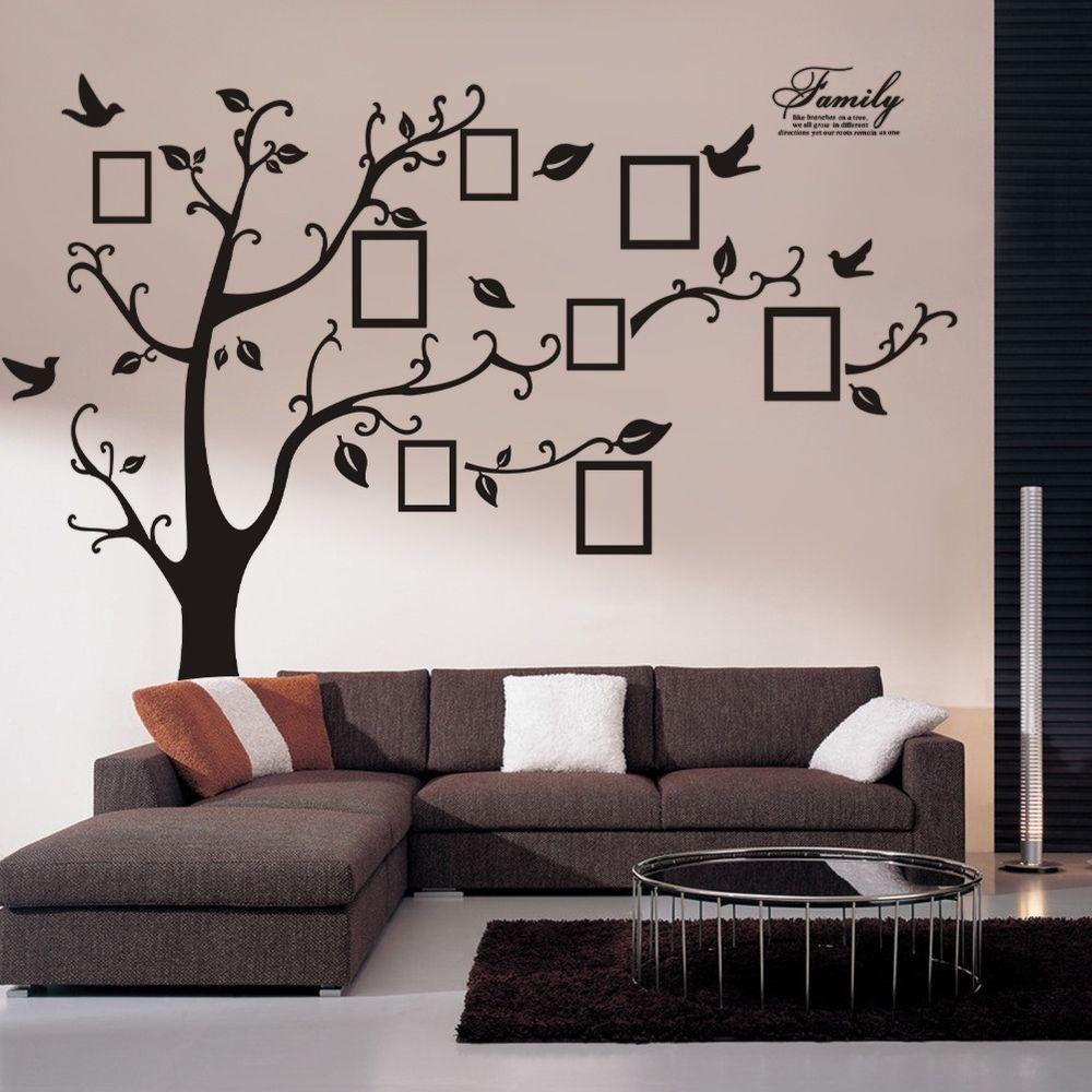 Huge Family Frame Tree Vinyl Removable Wall Stickers