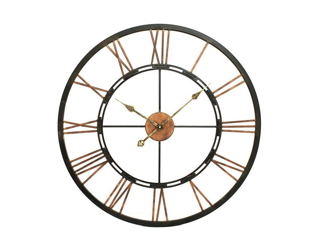Huge Metal Wall Clock Interior Clocks