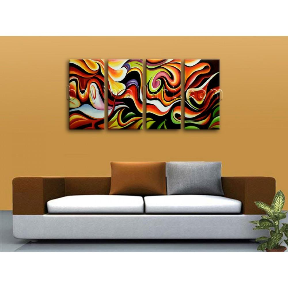 Huge Wall Art Abstract Painting Home Decoration Ideas