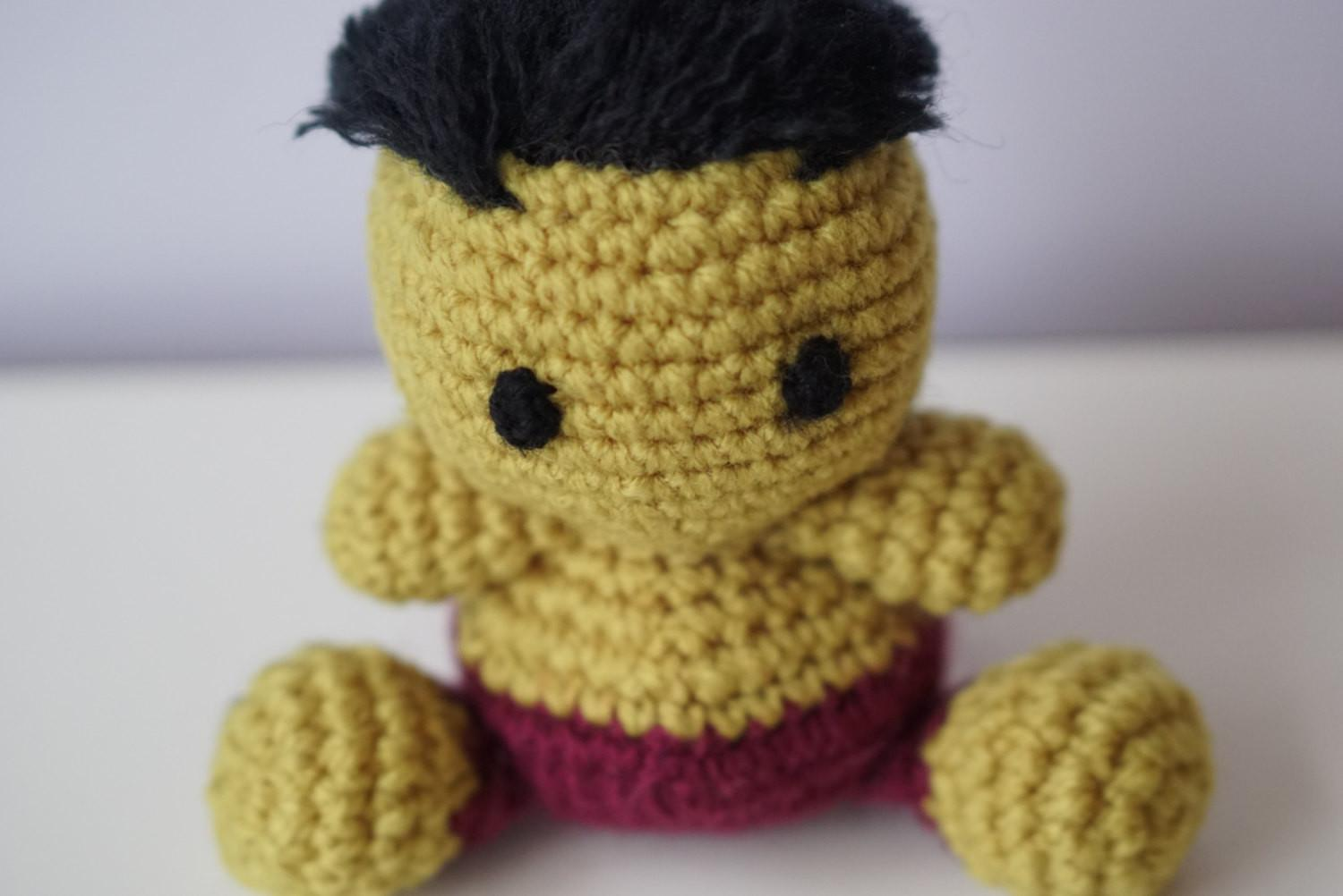 9 inch Incredible Hulk Doll Amigurumi Hulk by MammaBearCreations ... | 1002x1500
