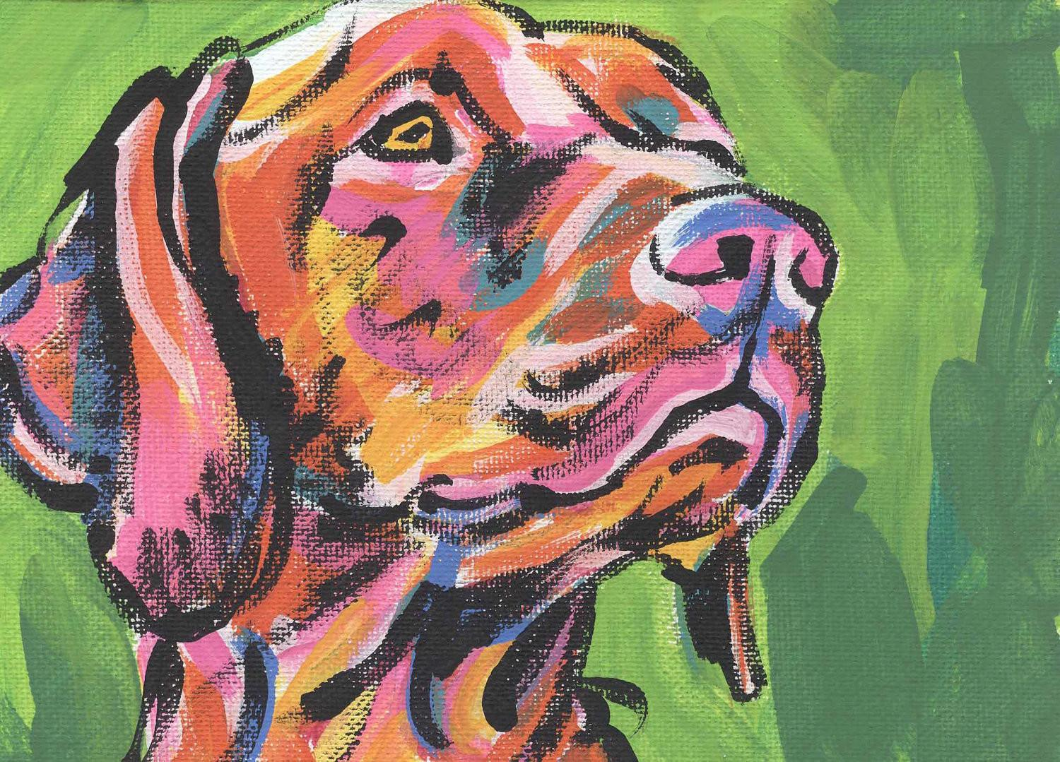 Hungarian Vizsla Modern Dog Art Print Pop Bright