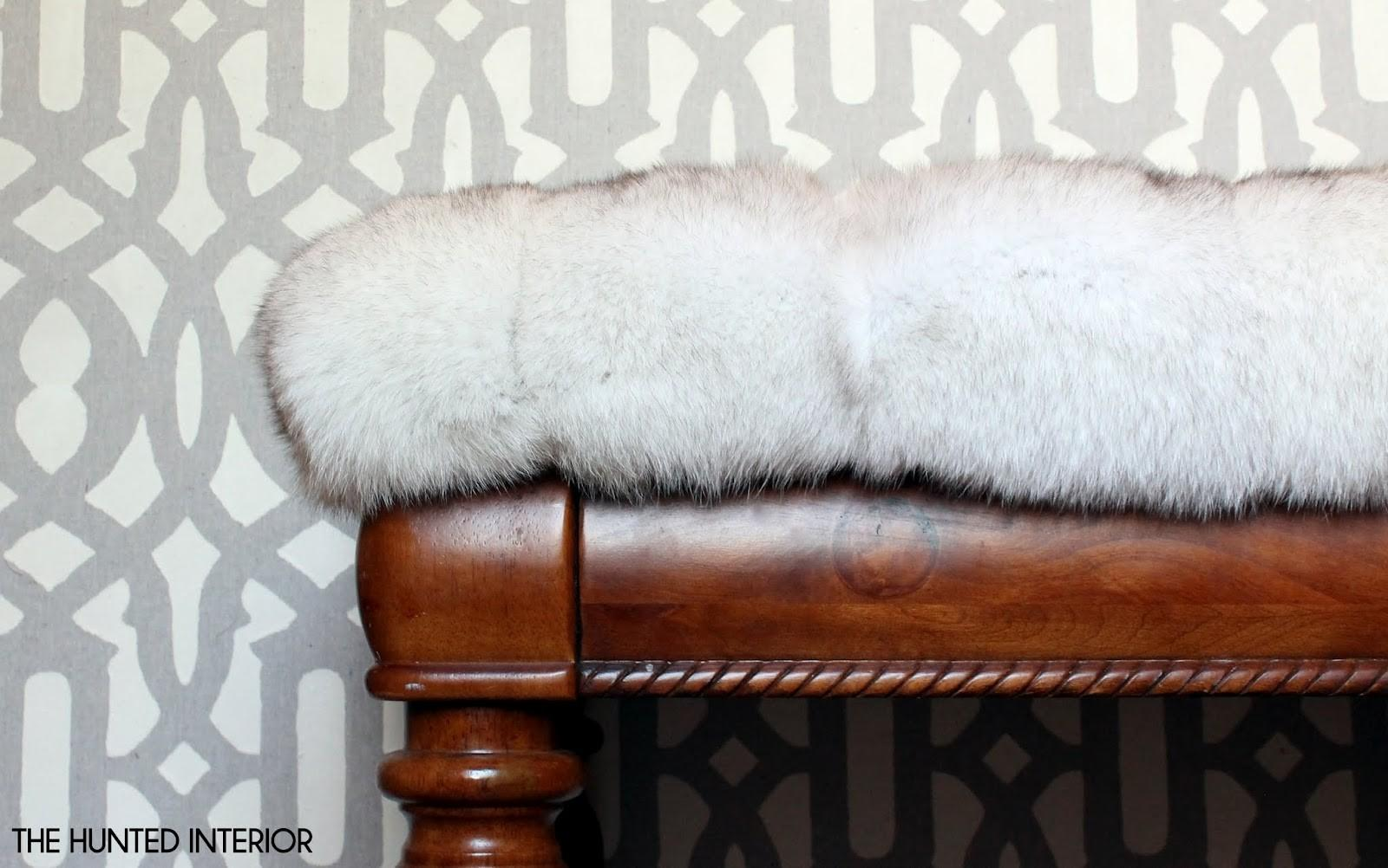 Hunted Interior Fur Ottoman Easiest Project Ever
