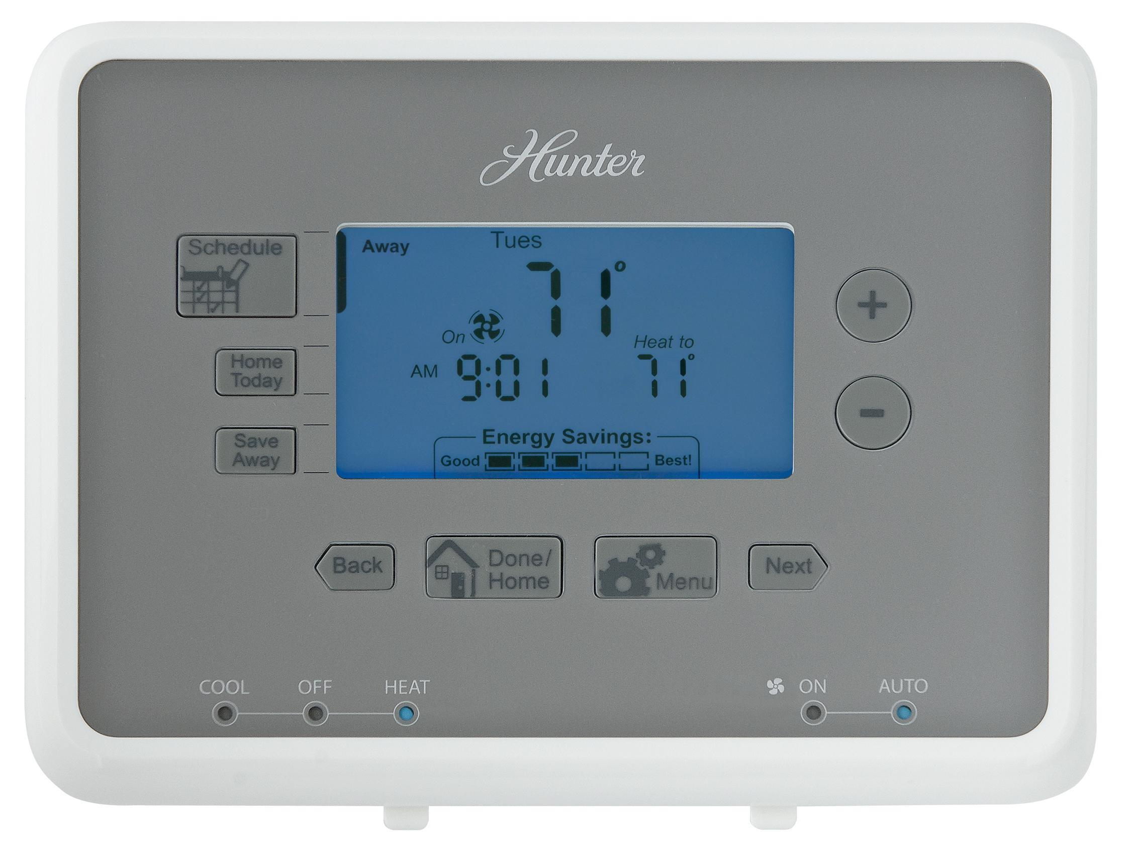 Hunter Day Digital Programmable Thermostat Home