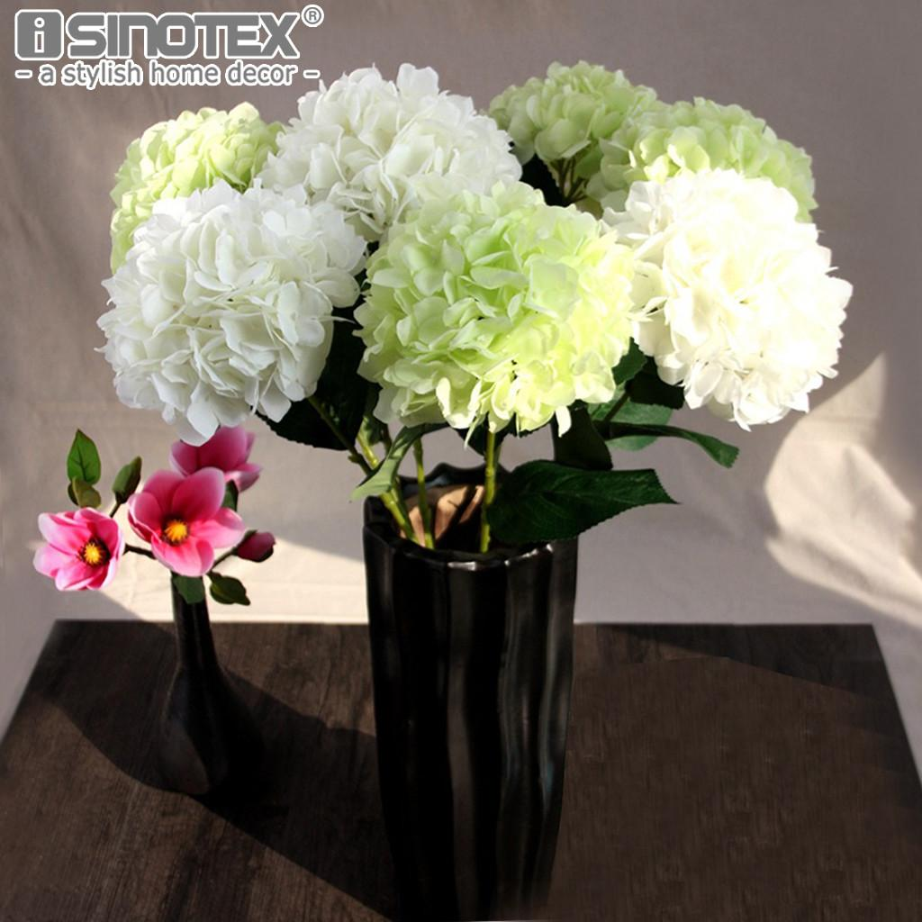 Hydrangea Artificial Flowers Diy Silk Decorative