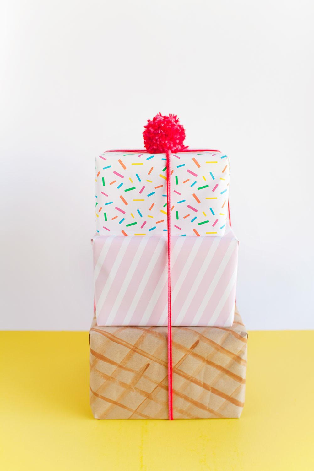 Ice Cream Cone Gift Wrap Tell Love Party