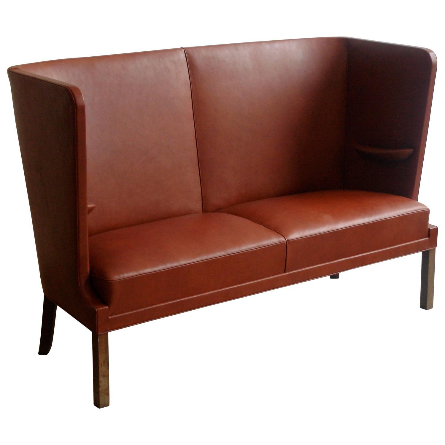 Iconic 1930s High Backed Sofa Interior Armrests