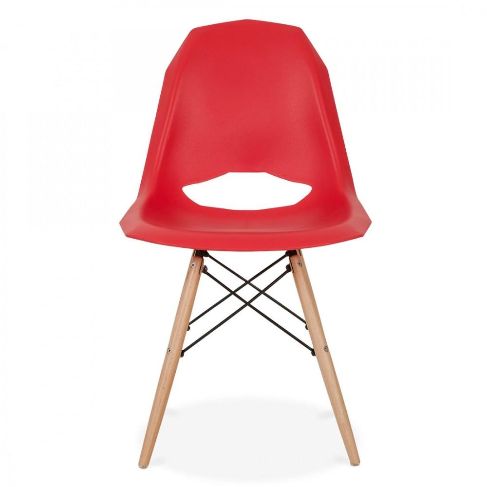 Iconic Designs Style Red Contemporary Dining Chair