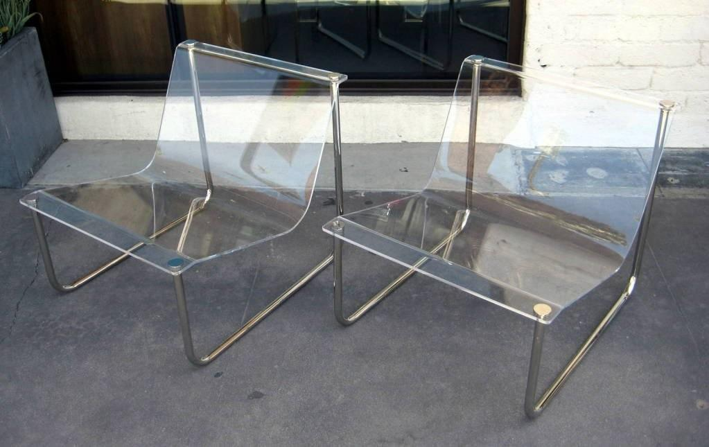 Iconic Pair Charles Hollis Jones Sling Chairs 1980