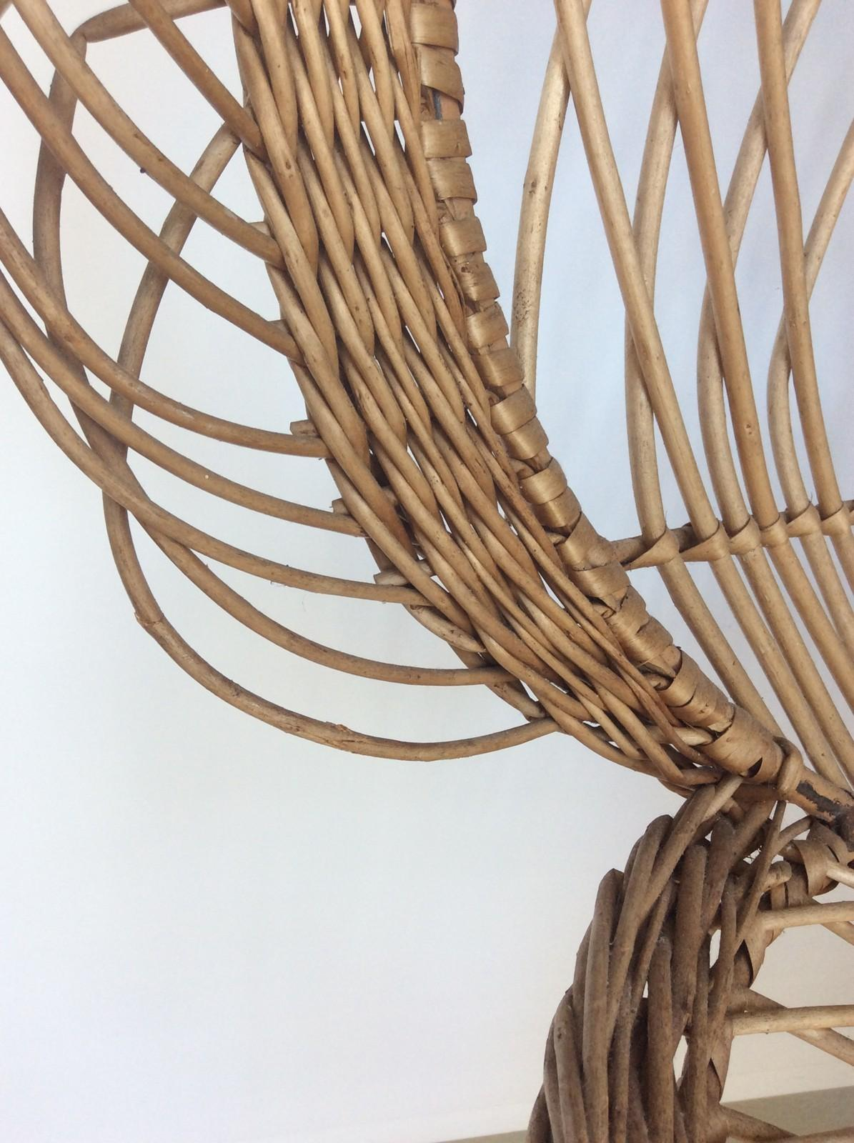 Iconic Rattan Peacock Chair 1970s Decorative Collective