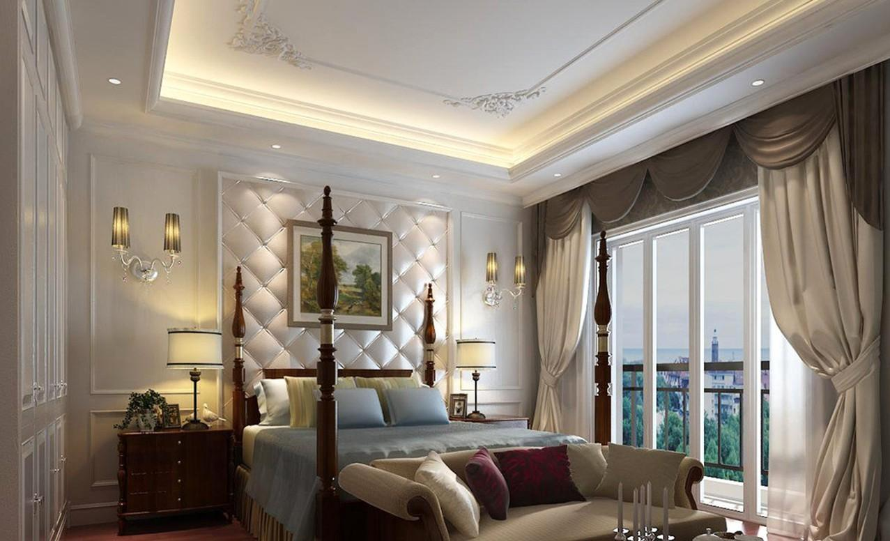 Idea White Bedroom Classic Bed Design House