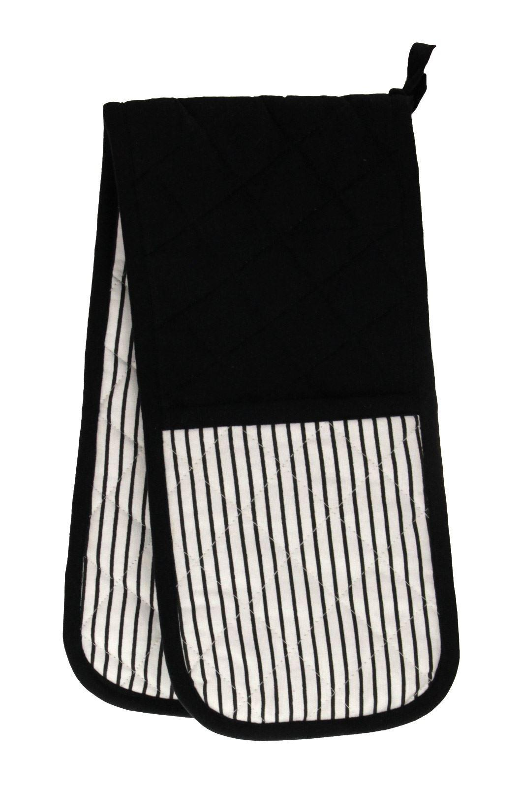 Ideal Textiles Windsor Stripe Double Oven Gloves Heat
