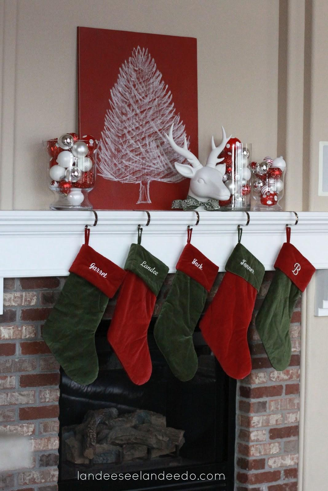 Ideas Adorable Christmas Mantel Decorating