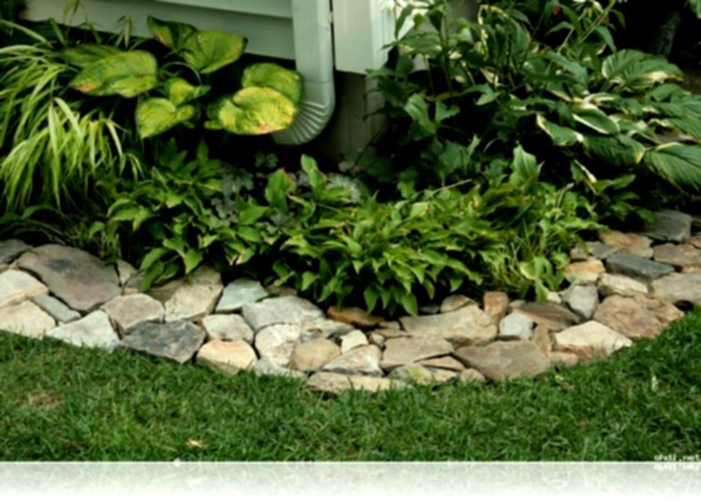Ideas Bamboo Garden Border Bed Edging Landscaping Stone