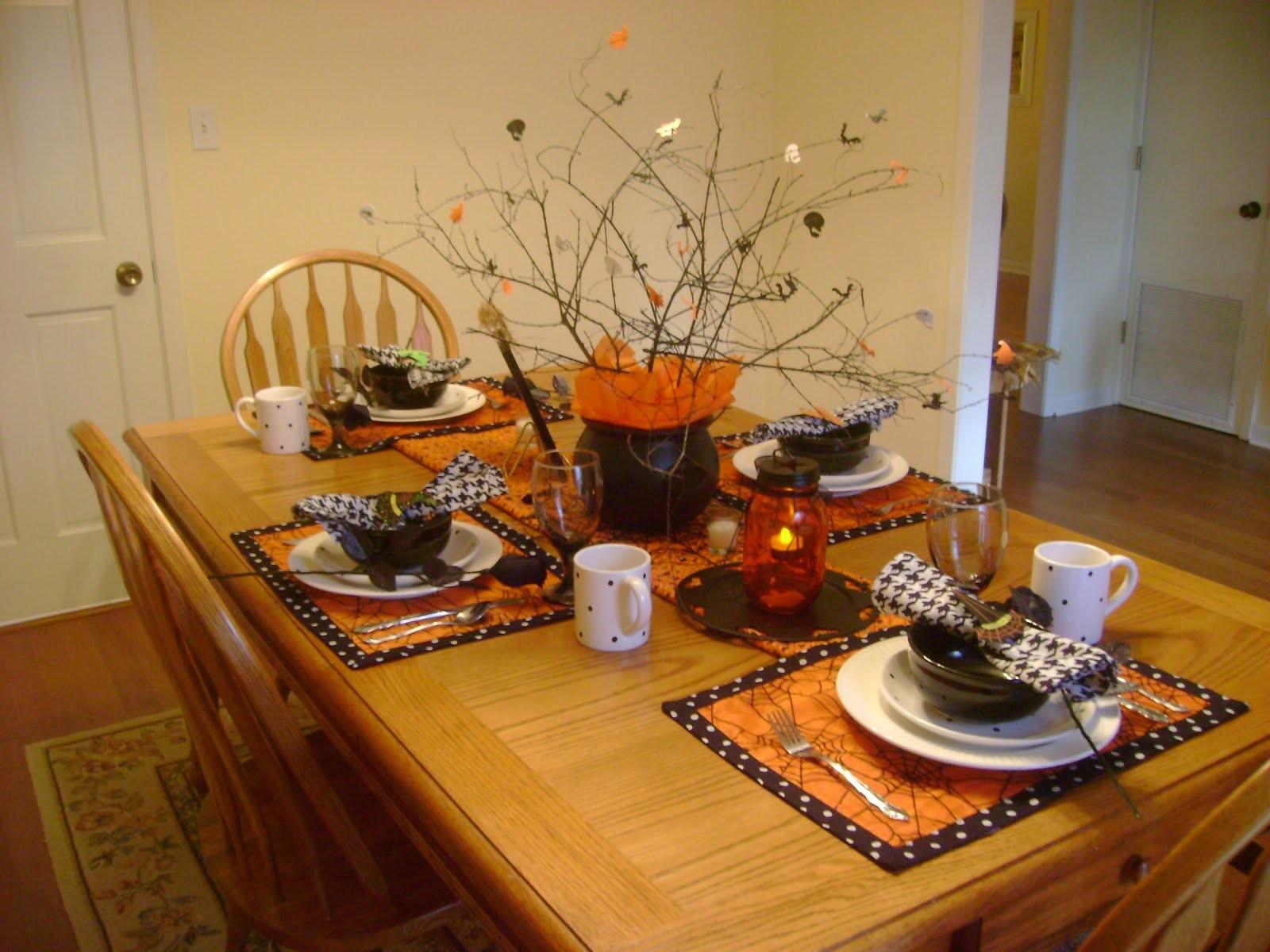 Ideas Decorate Your Table Halloween Interior