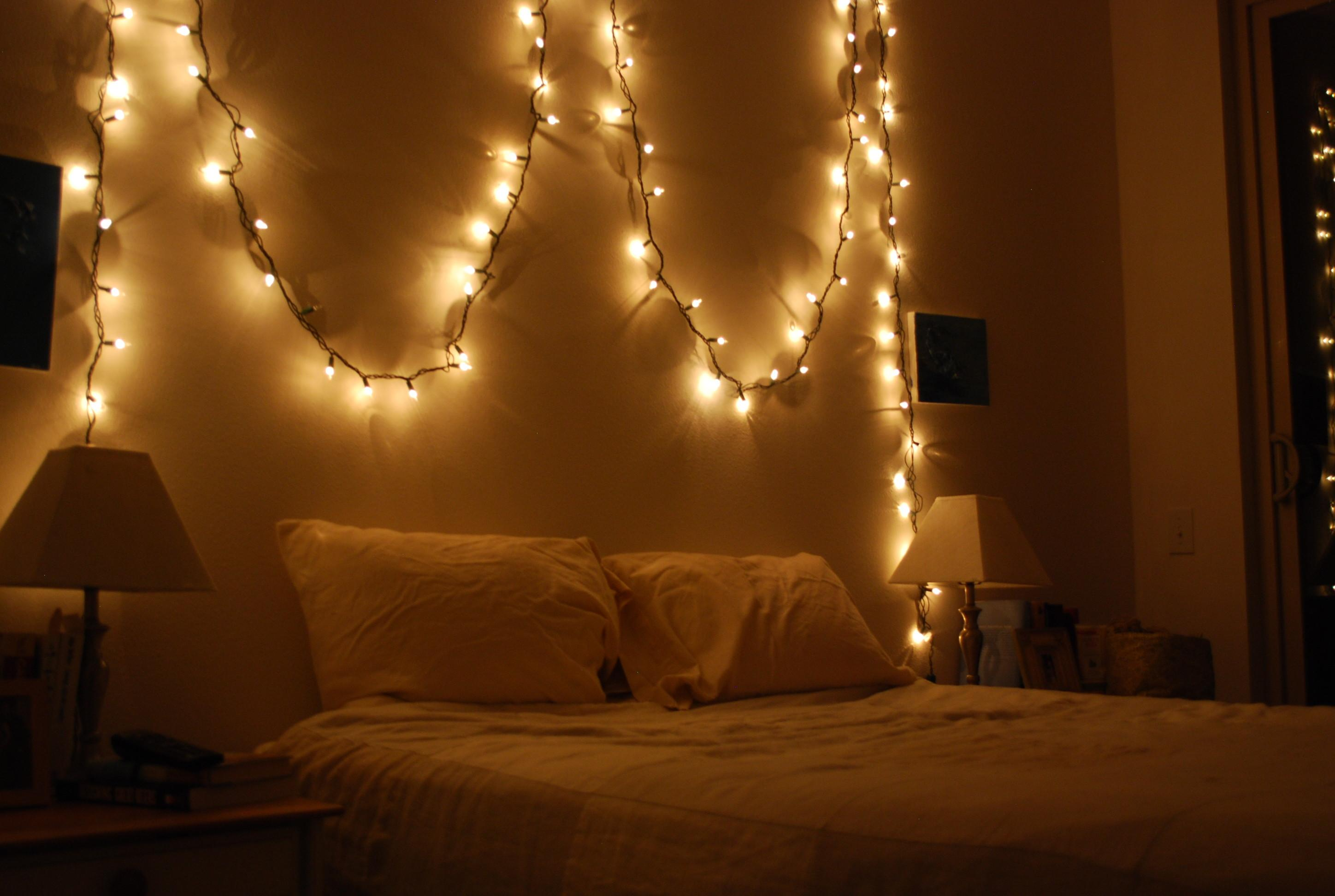 Ideas Decorating Your Room Christmas Lights