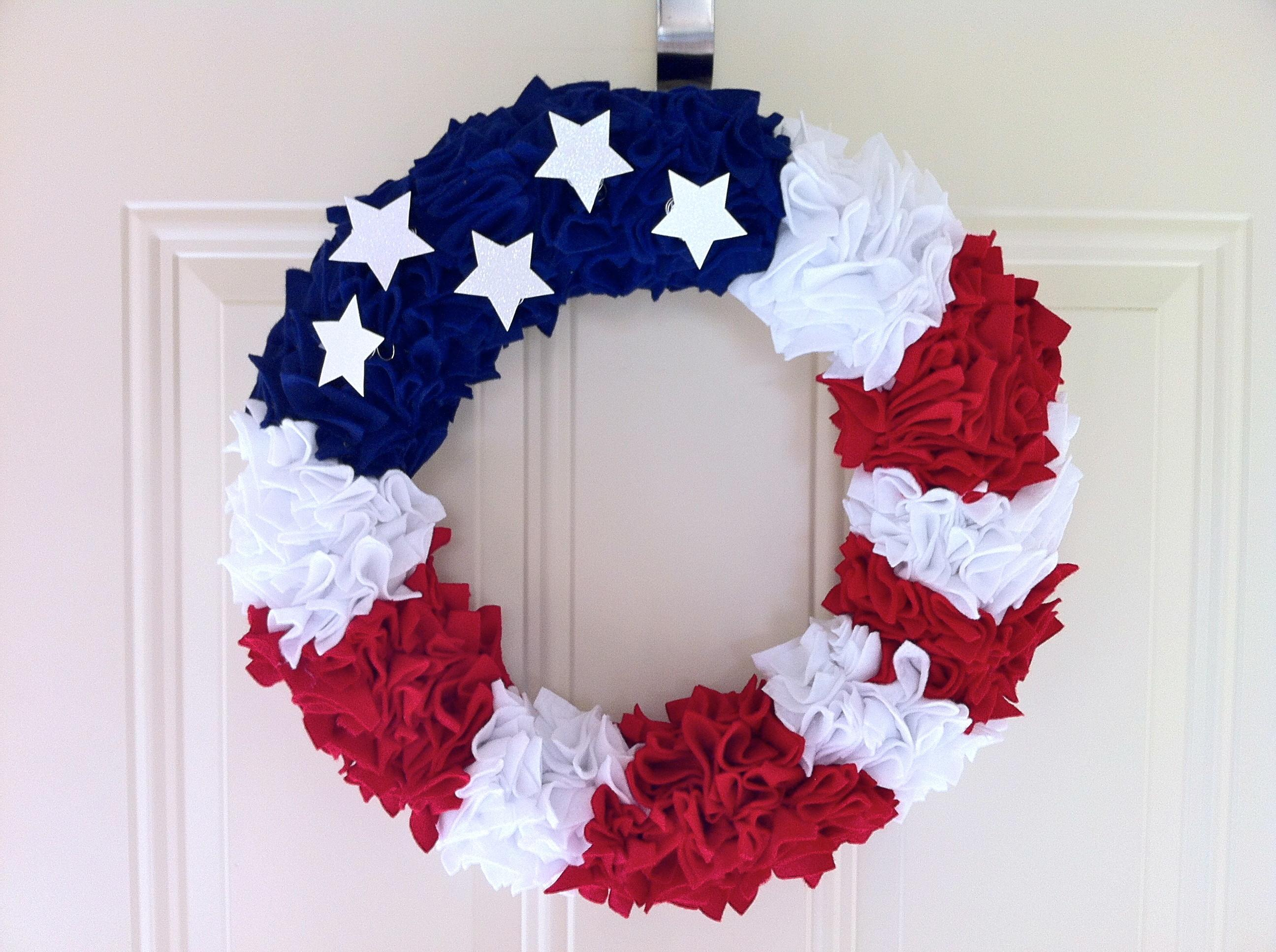 Ideas Fourth July Wreath Diy Homesfeed