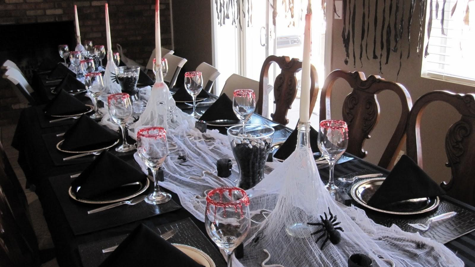 Ideas Halloween Themed Birthday Party Black Table