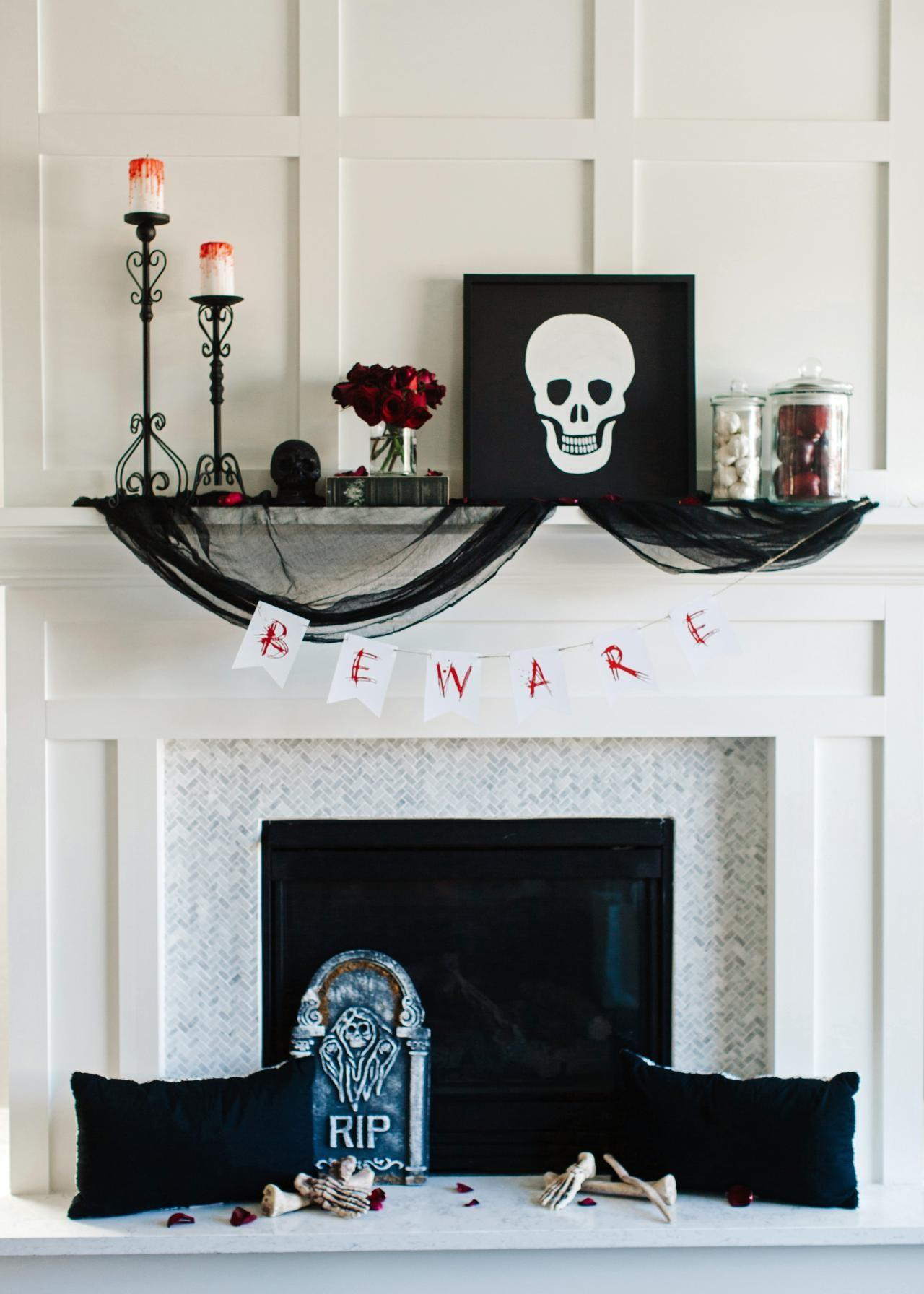 Ideas Some Amazing Designs Halloween Mantel