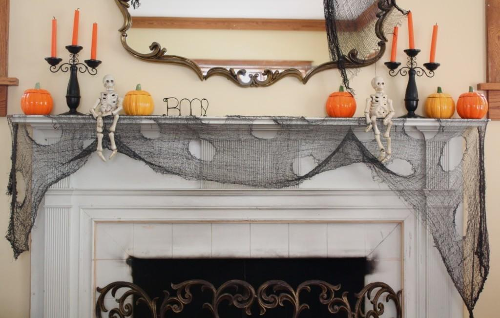 Ideas Spooky Mantel Design Halloween Theme