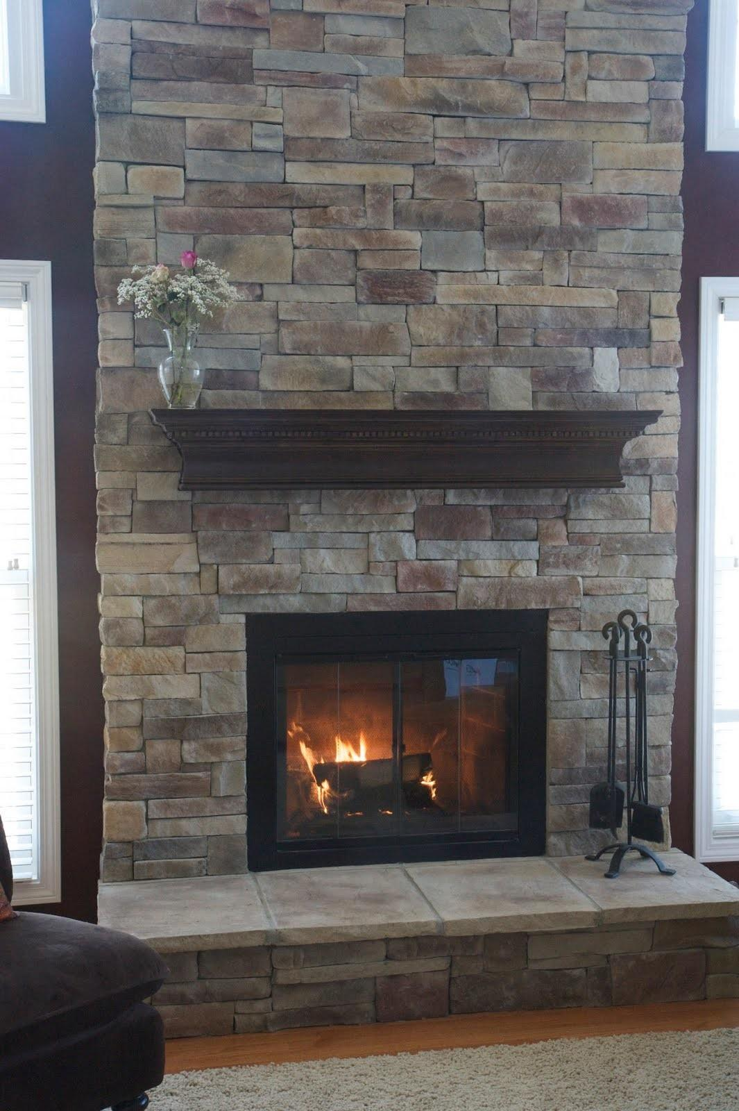 Ideas Stone Fireplace Beautiful Mantel Decorating