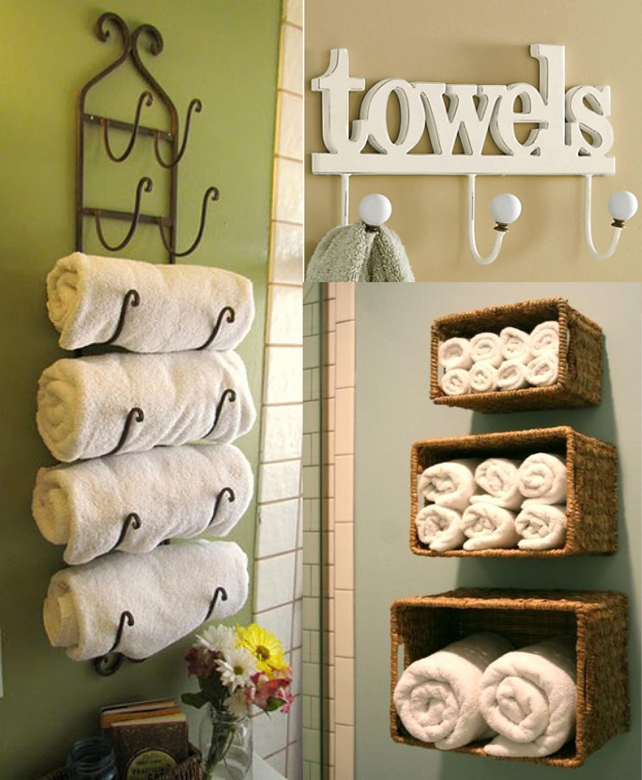 Ideas Towel Storage Small Bathrooms Archives