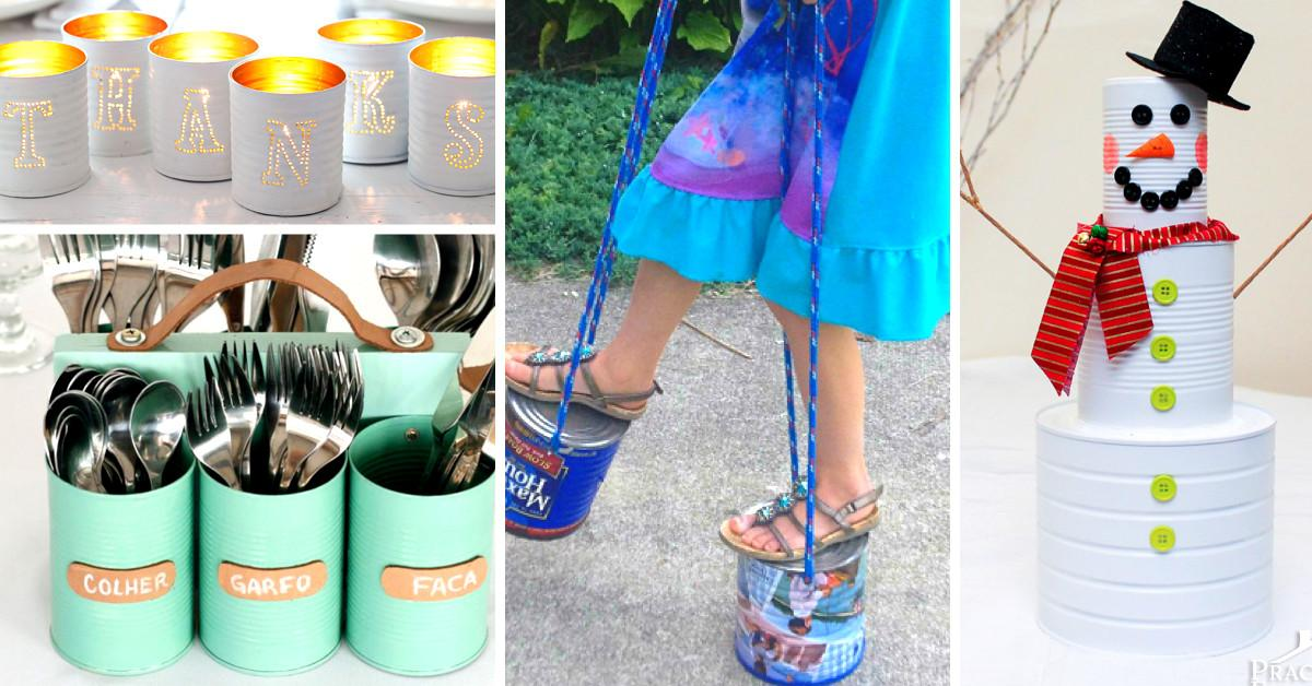 Ideas Upcycling Tin Cans Turning Them Into