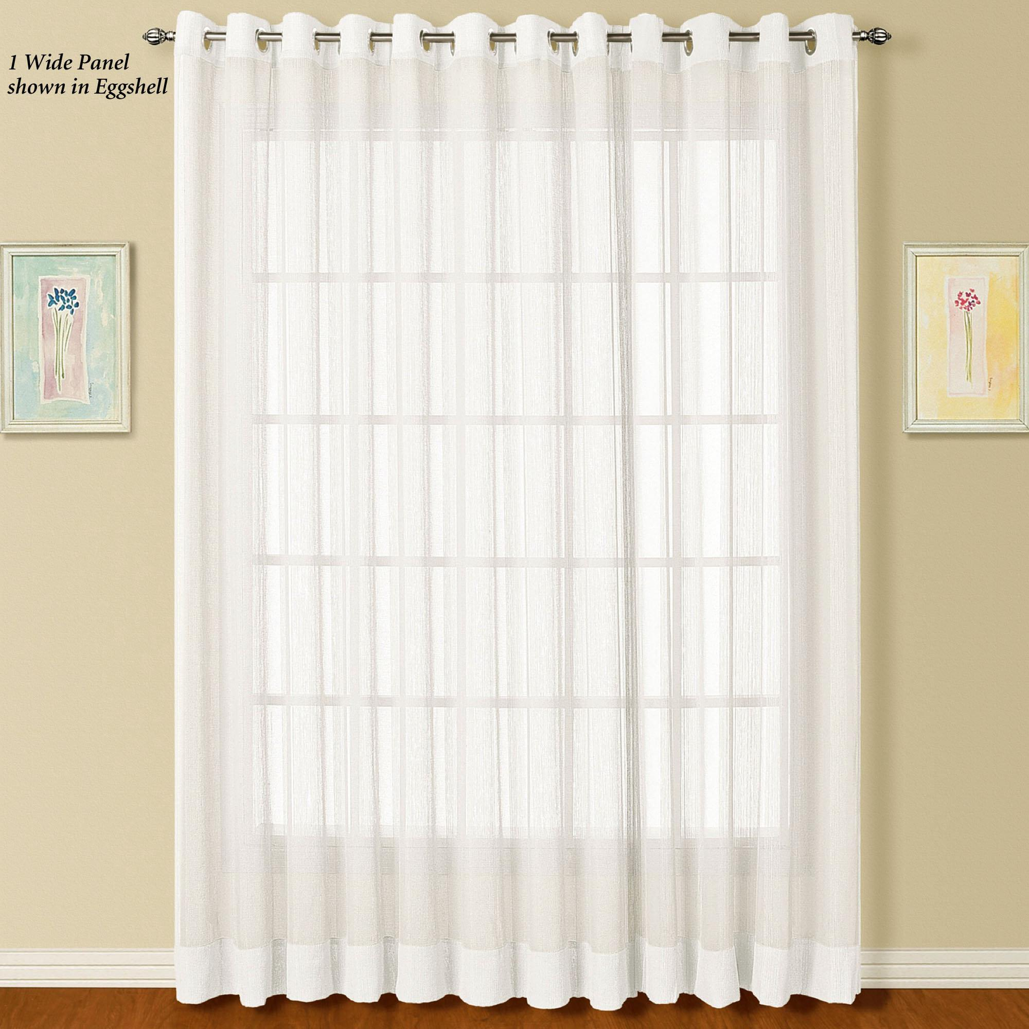 Ideas Window Sheer Curtains Smart Insulating Voile