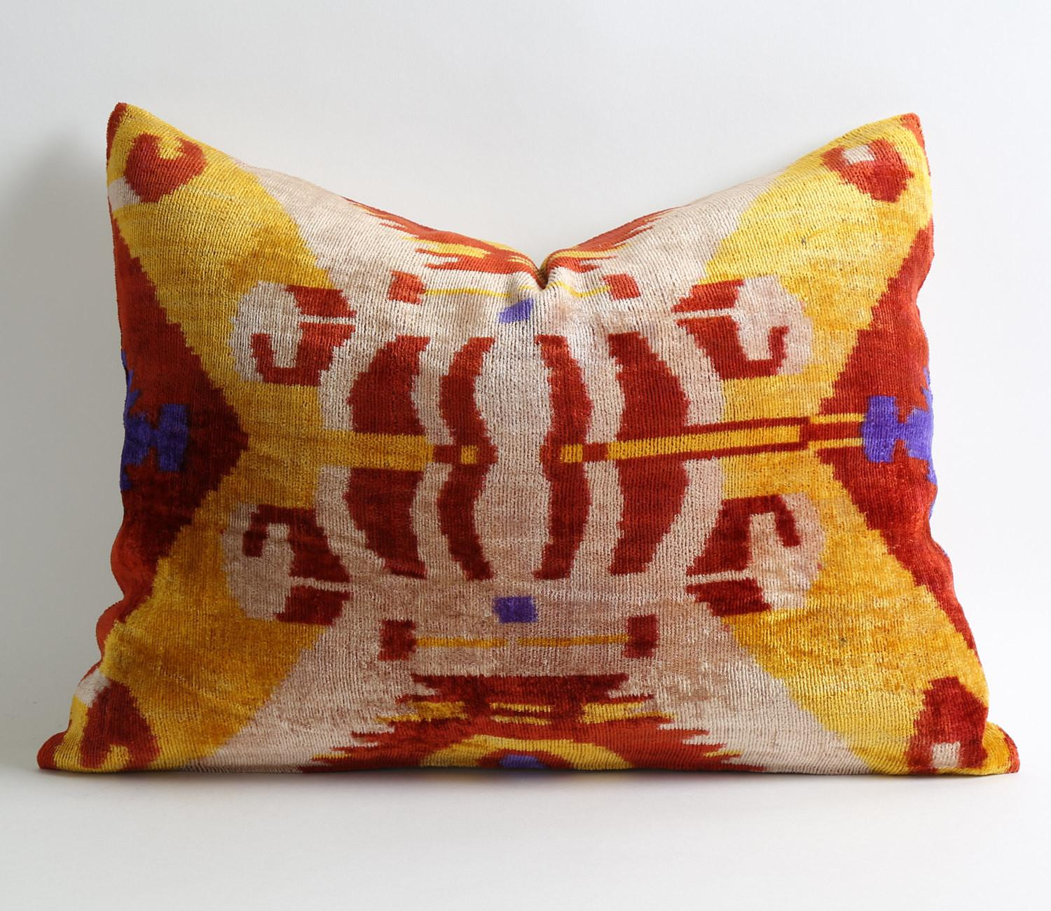 Ikat Pillow Case Decorative Pillows Couch Sofa