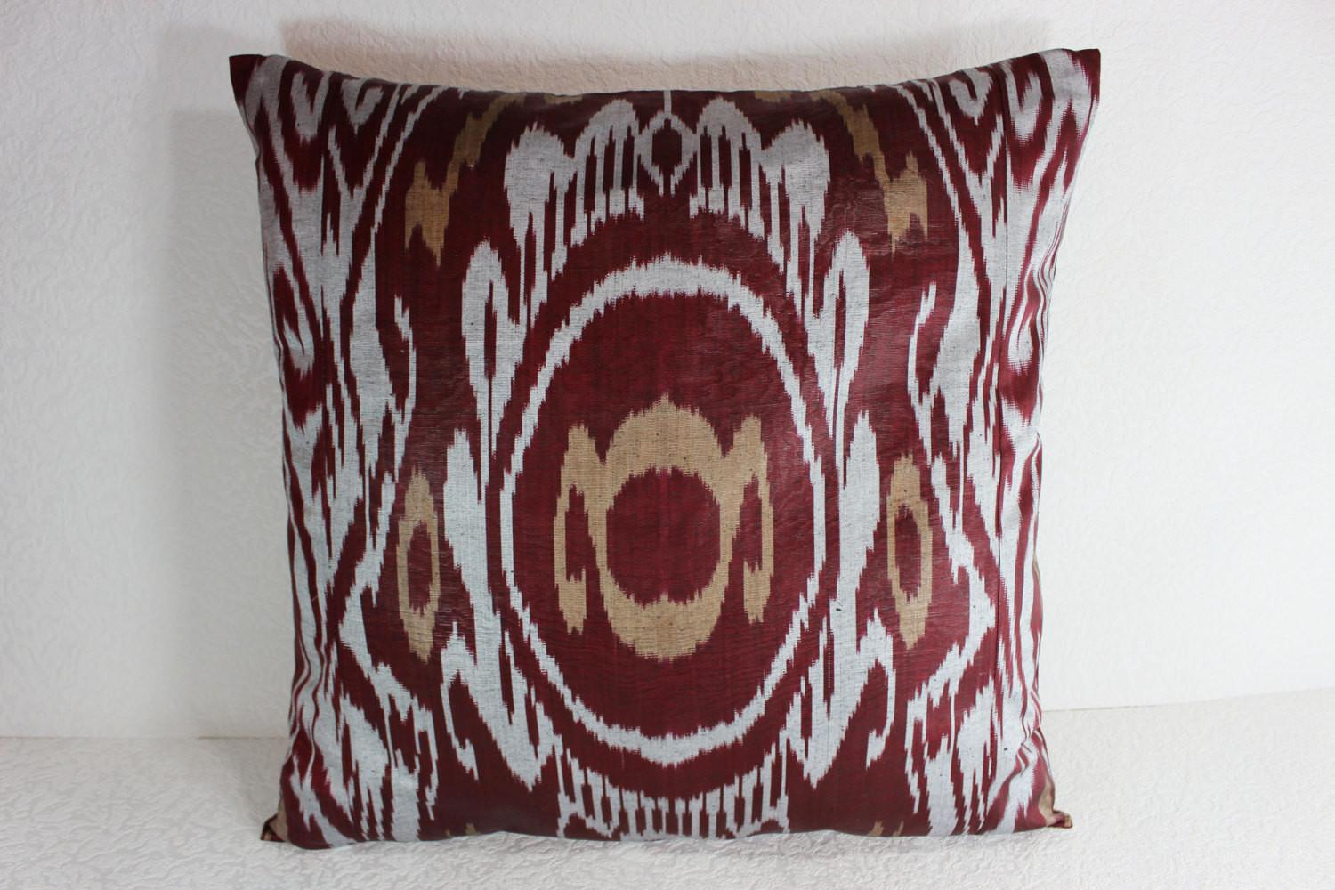 Ikat Pillow Handmade Cover S102 Throw