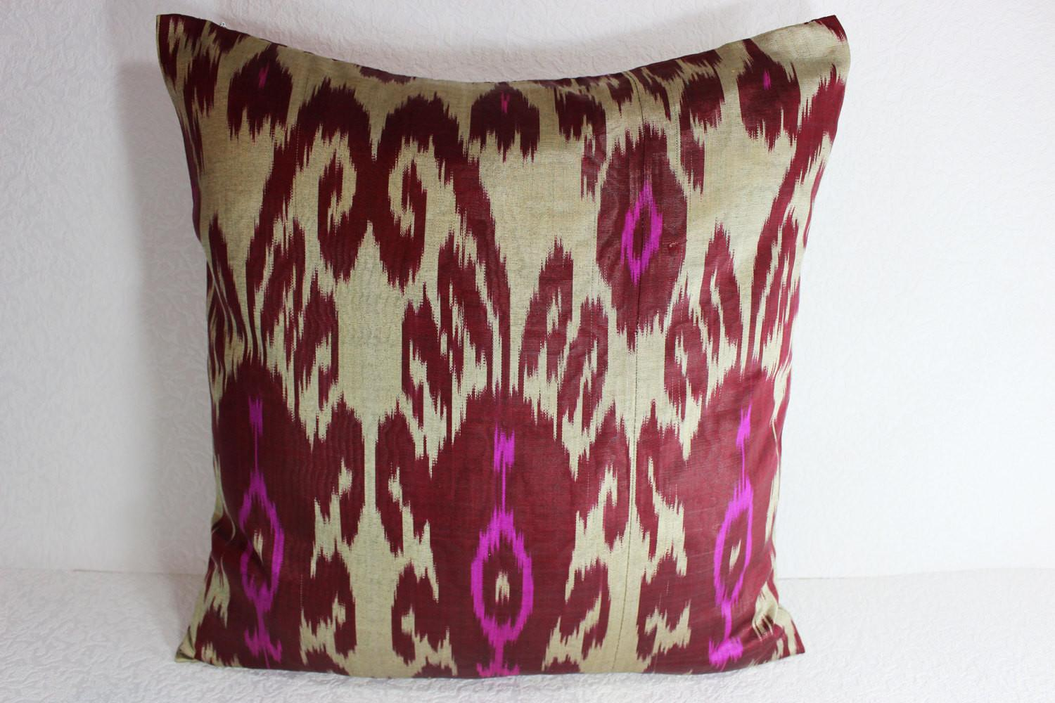 Ikat Pillow Handmade Cover S105 Throw