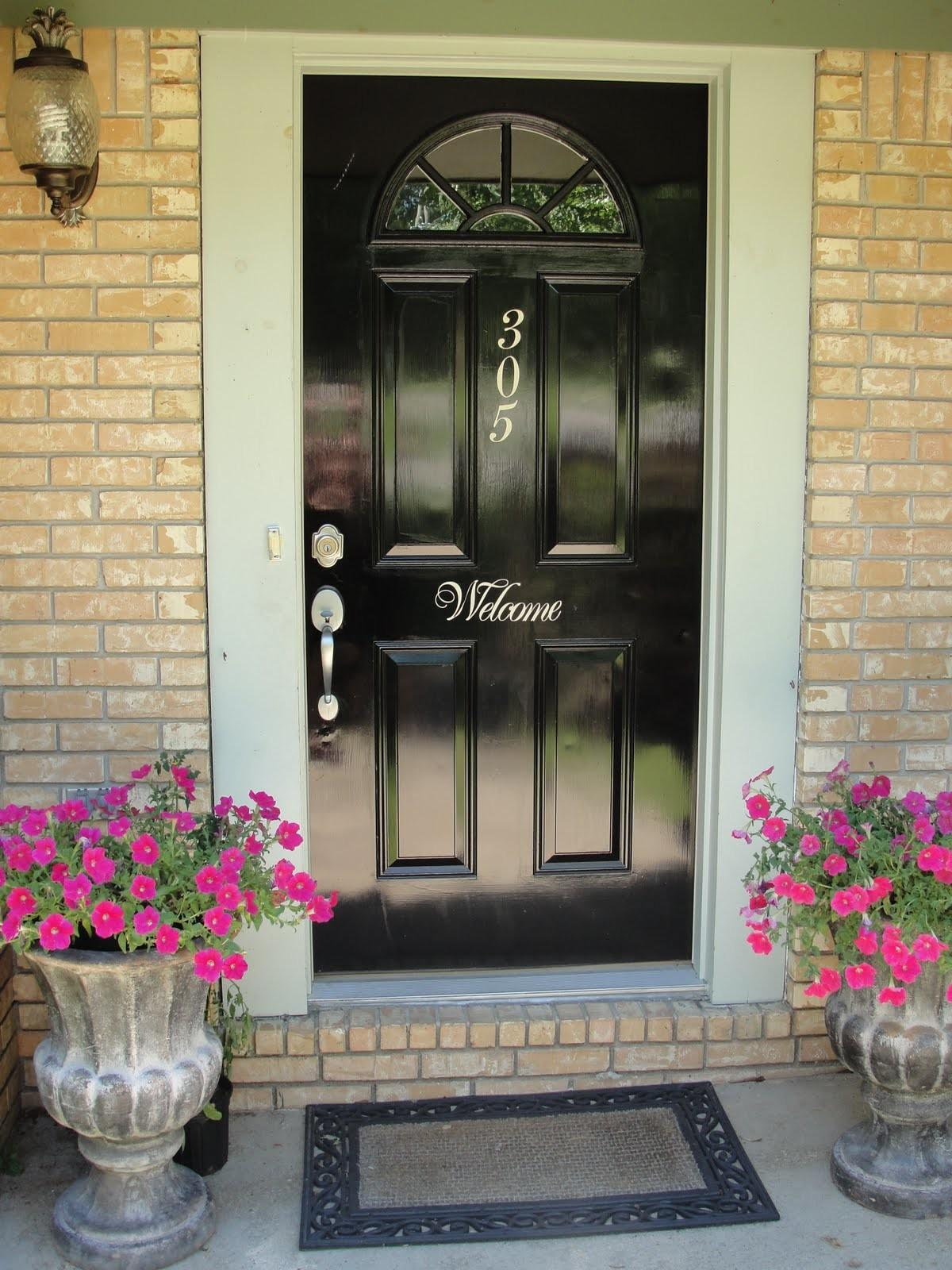 Imperfectly Beautiful Red Black Front Door Makeover