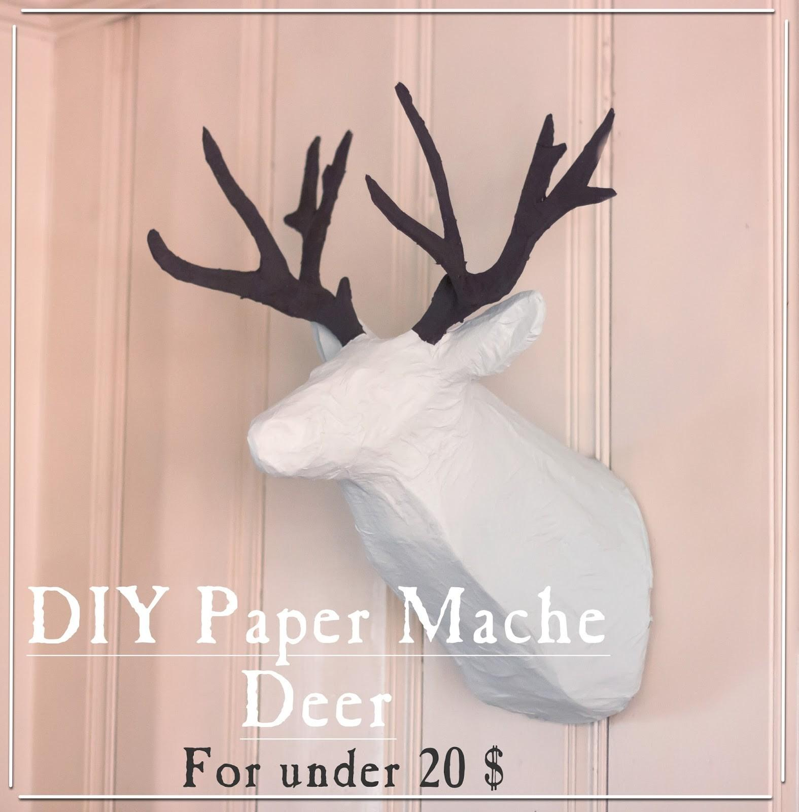 Imperfectly Imaginable Diy Paper Mache Deer Head