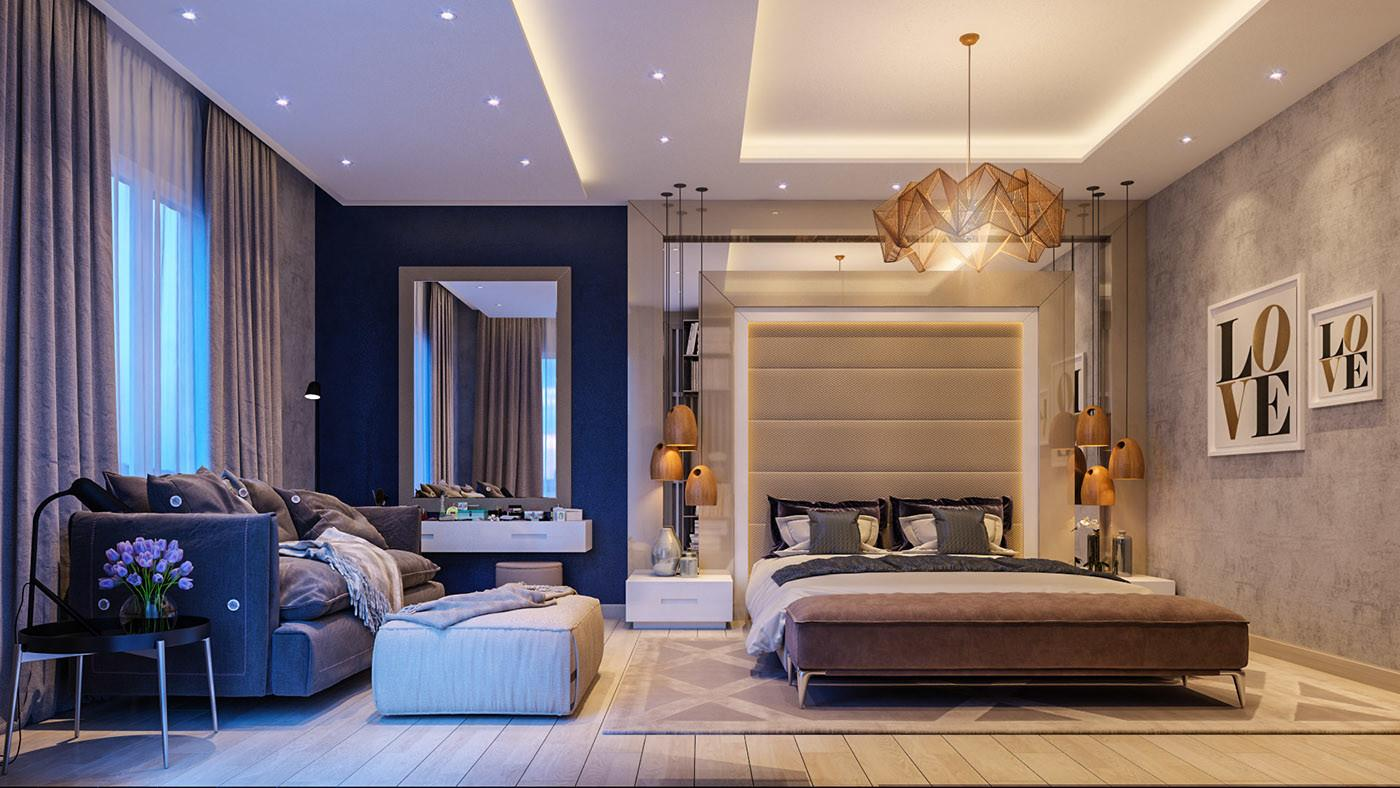 Impove Your Luxirous Sleeptime Bold Bedroom Spaces