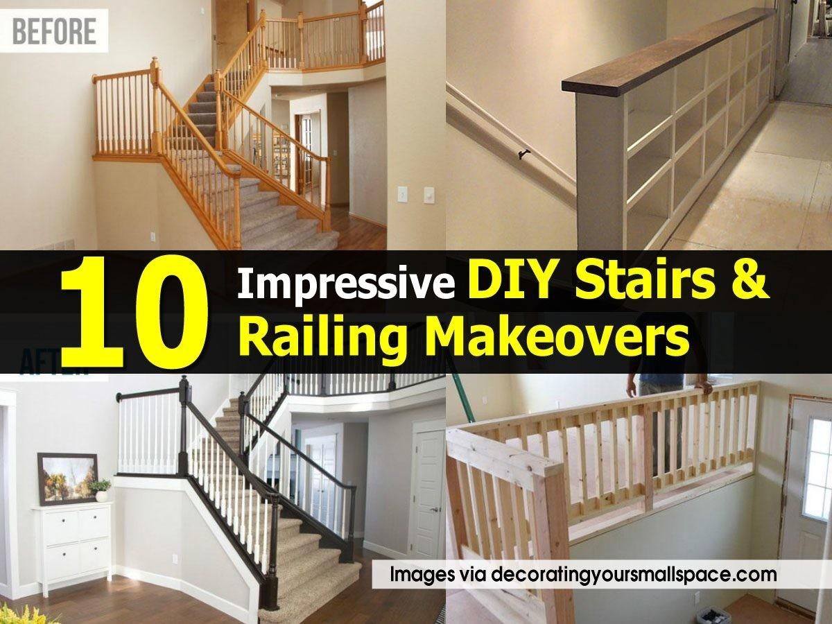 Impressive Diy Stairs Railing Makeovers