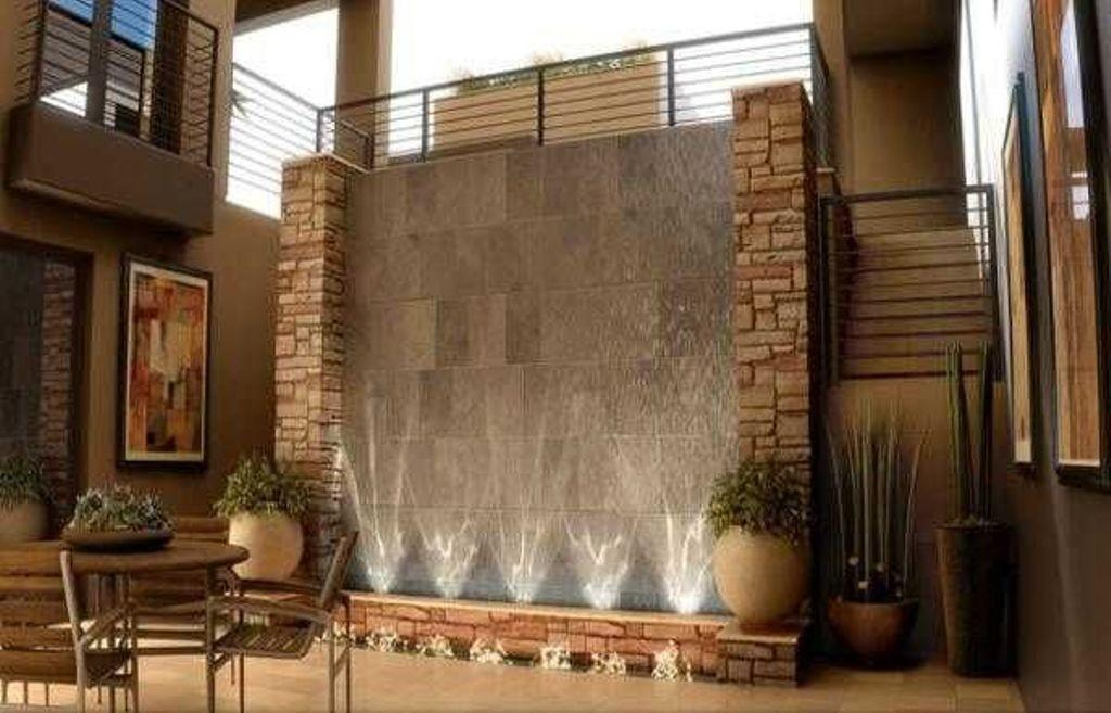 Impressive Indoor Fountain Stone Wall Decor