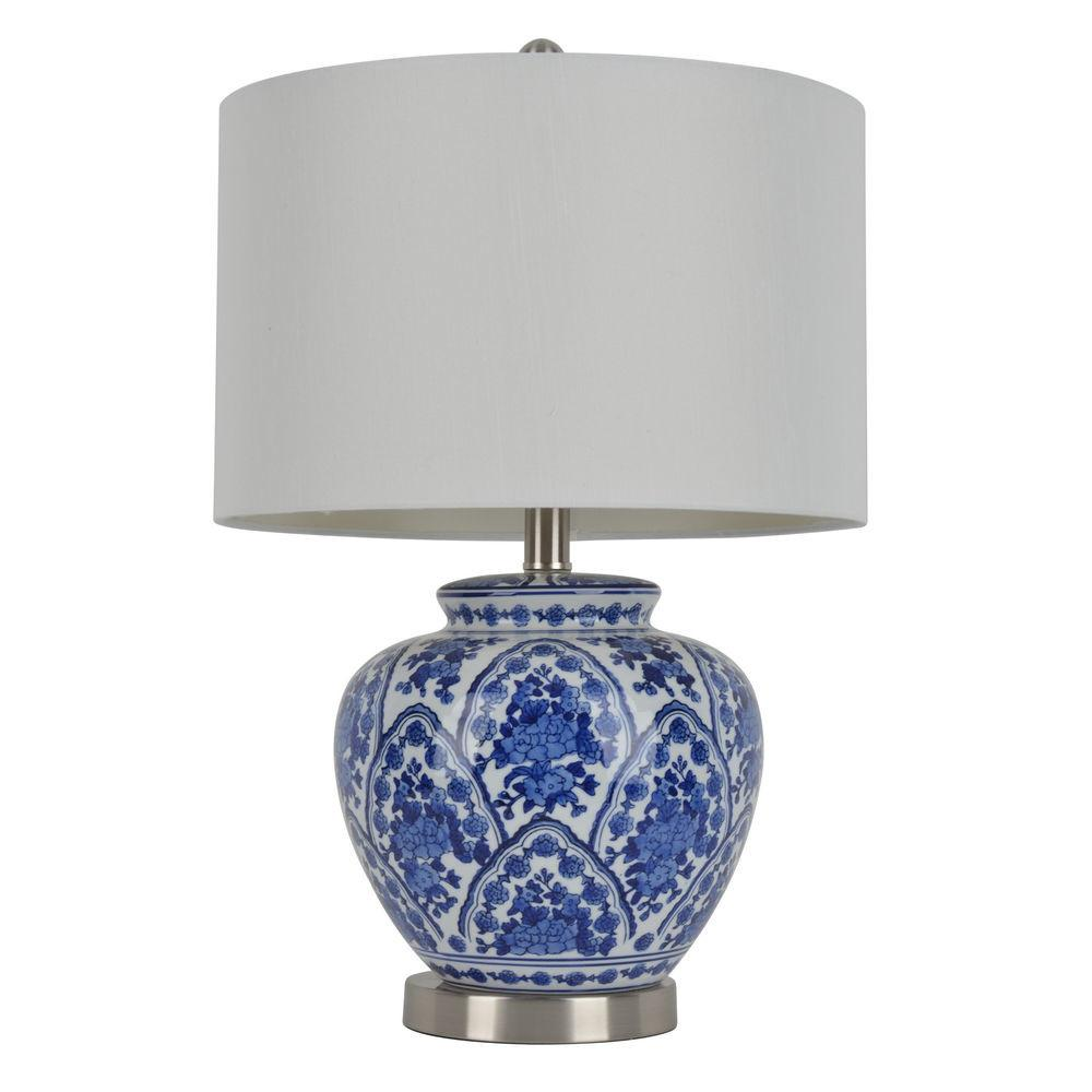Inch Blue White Ceramic Table Lamp