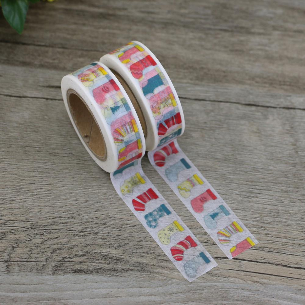 Inch Christmas Stockings Washi Tape Buy Ribbons