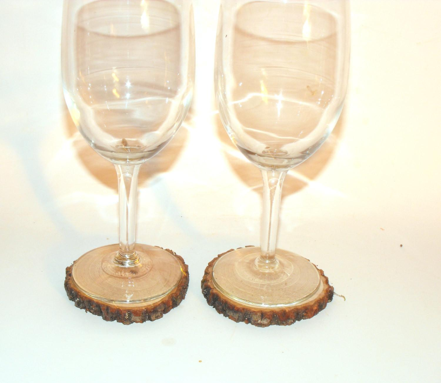 Inch Drilled Wood Slice Rustic