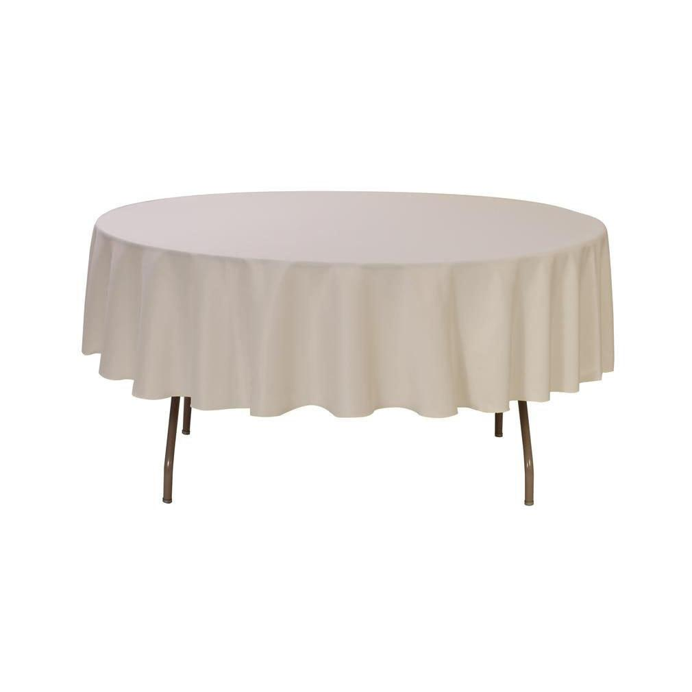 Inch Round Polyester Tablecloth Ivory Wedding Tablecloths