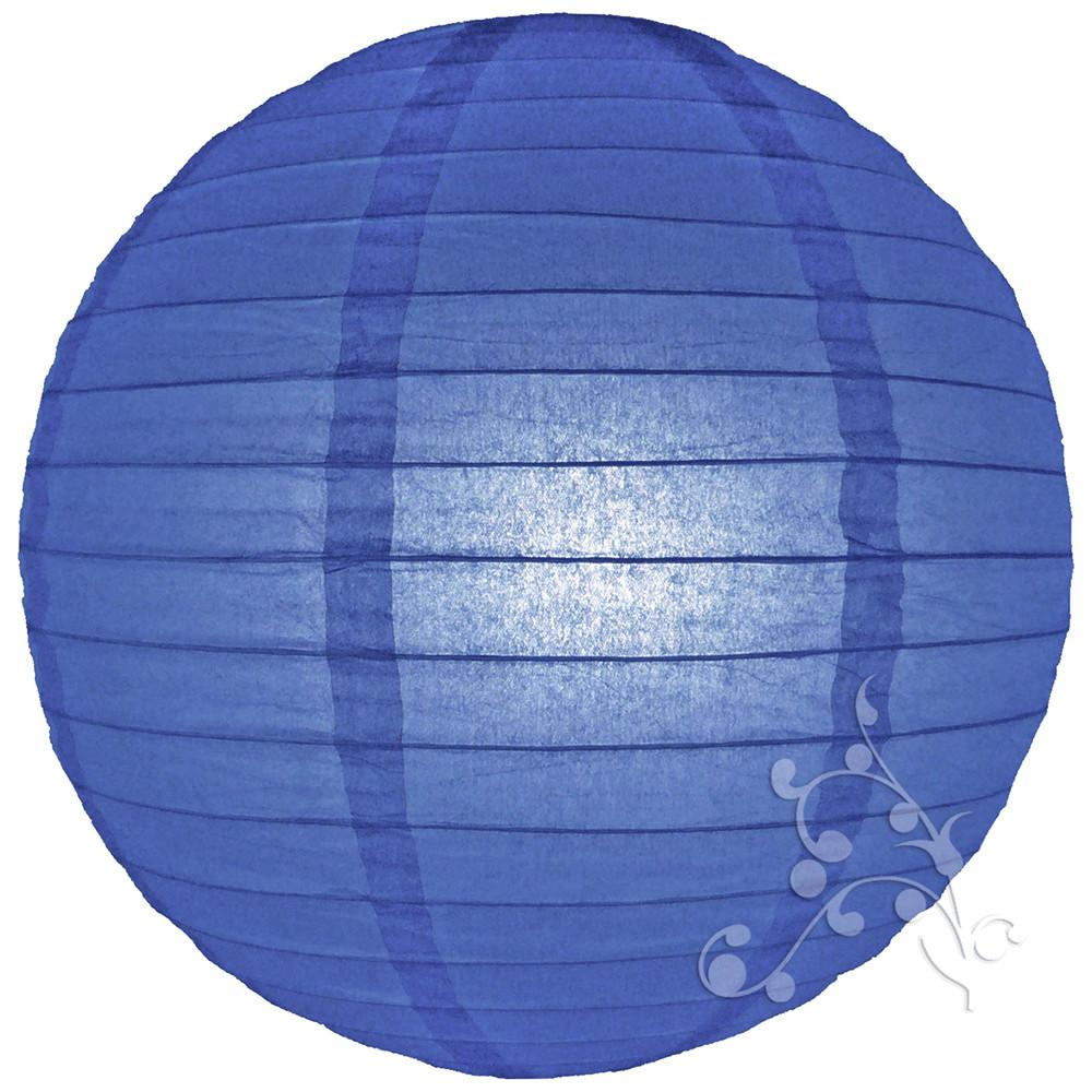Inch Small Royal Blue Round Paper Lanterns Hanging