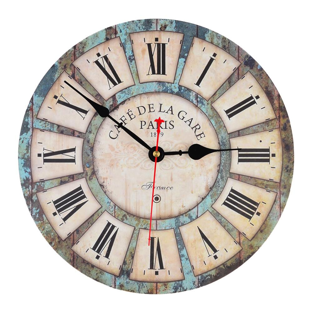 Inch Wooden Wall Clock Vintage France Paris Tuscan