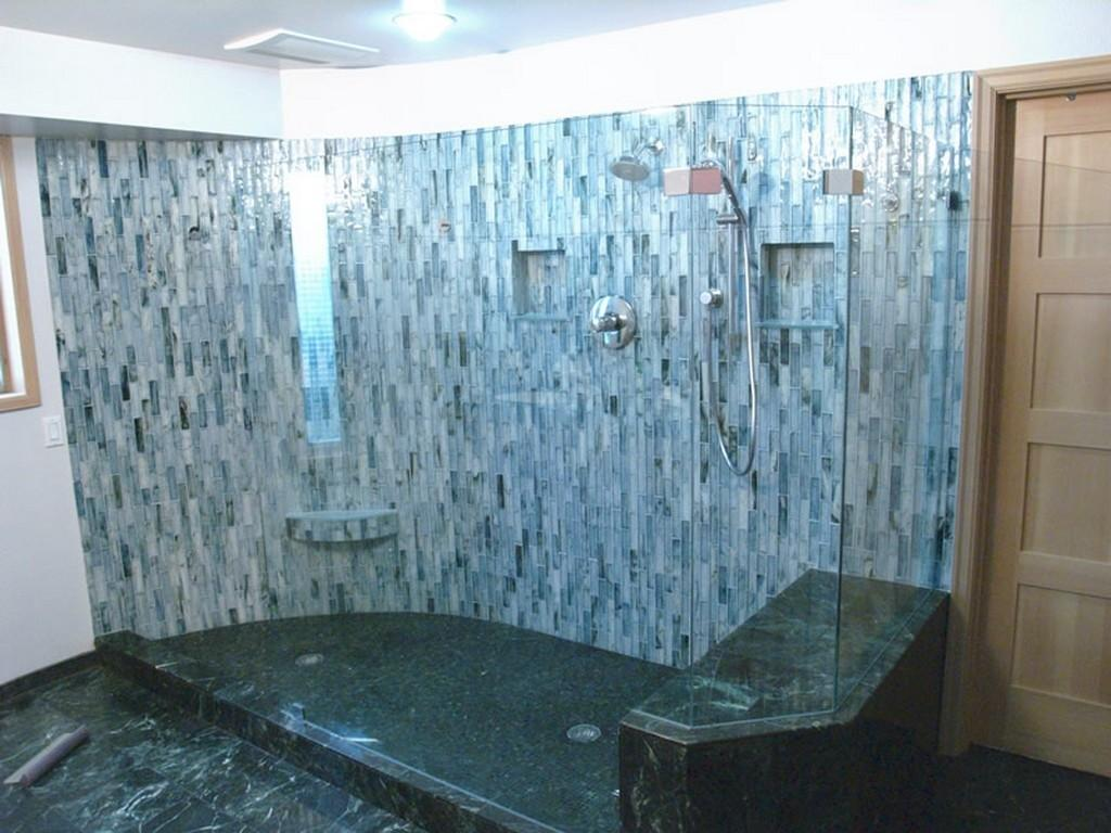Incredible Bathroom Remodel Ideas Glass Tiles Nytexas