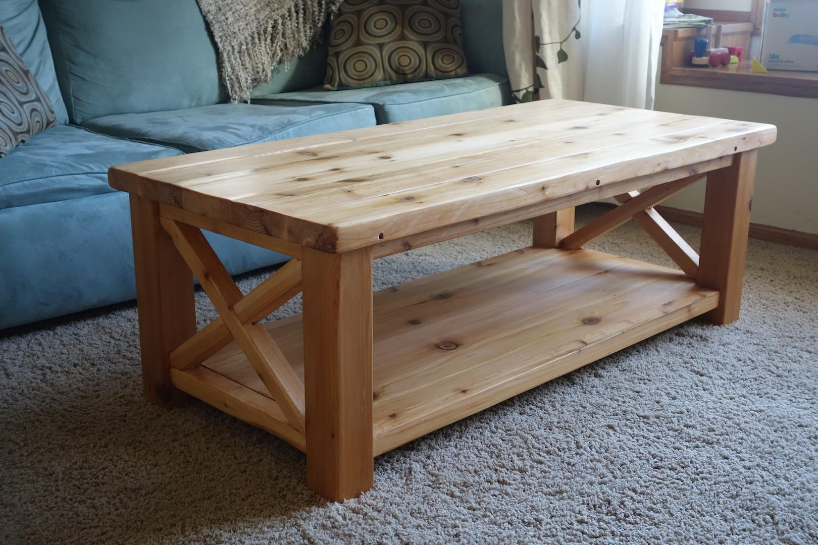 Incredible Cedar Coffee Table Ana White Rustic