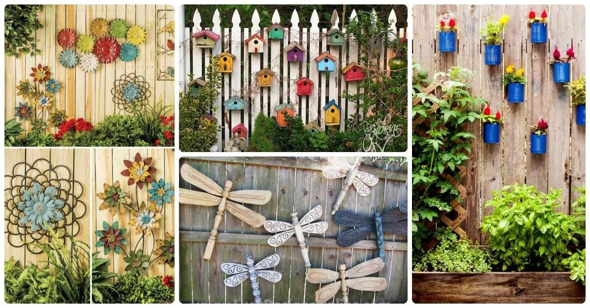 Incredible Ways Decorate Your Fence