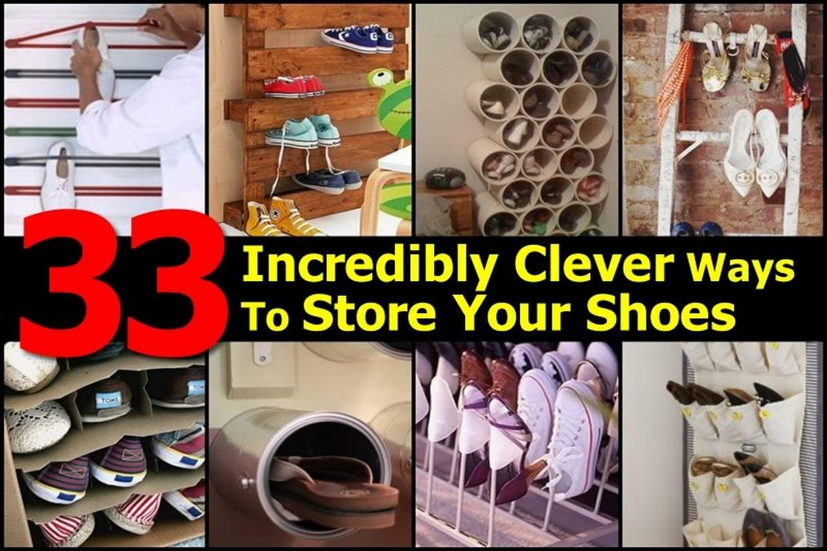 Incredibly Clever Ways Store Your Shoes